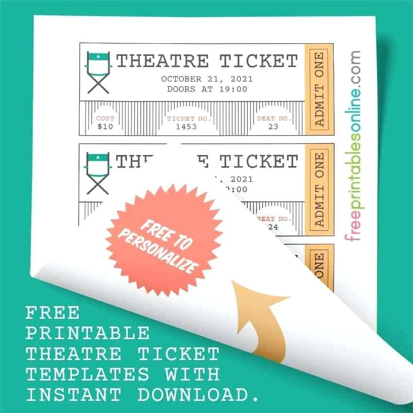Online Printable Ticket Templates