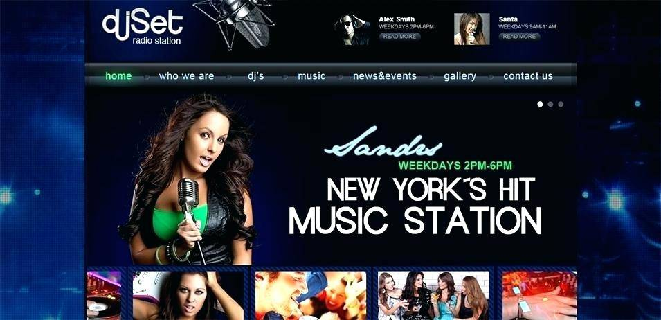 Online Radio Station Website Template Download