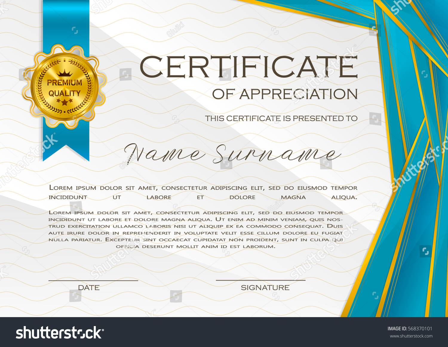 Online Template For Certificate Of Appreciation