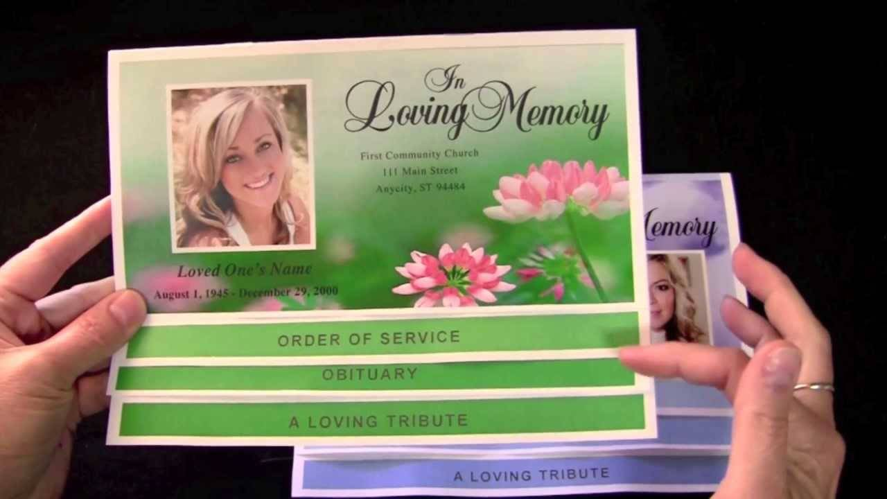 Online Templates For Funeral Programs