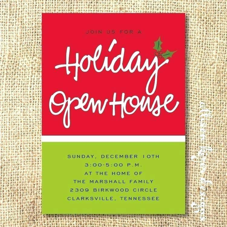 Open House Invitation Templates Word