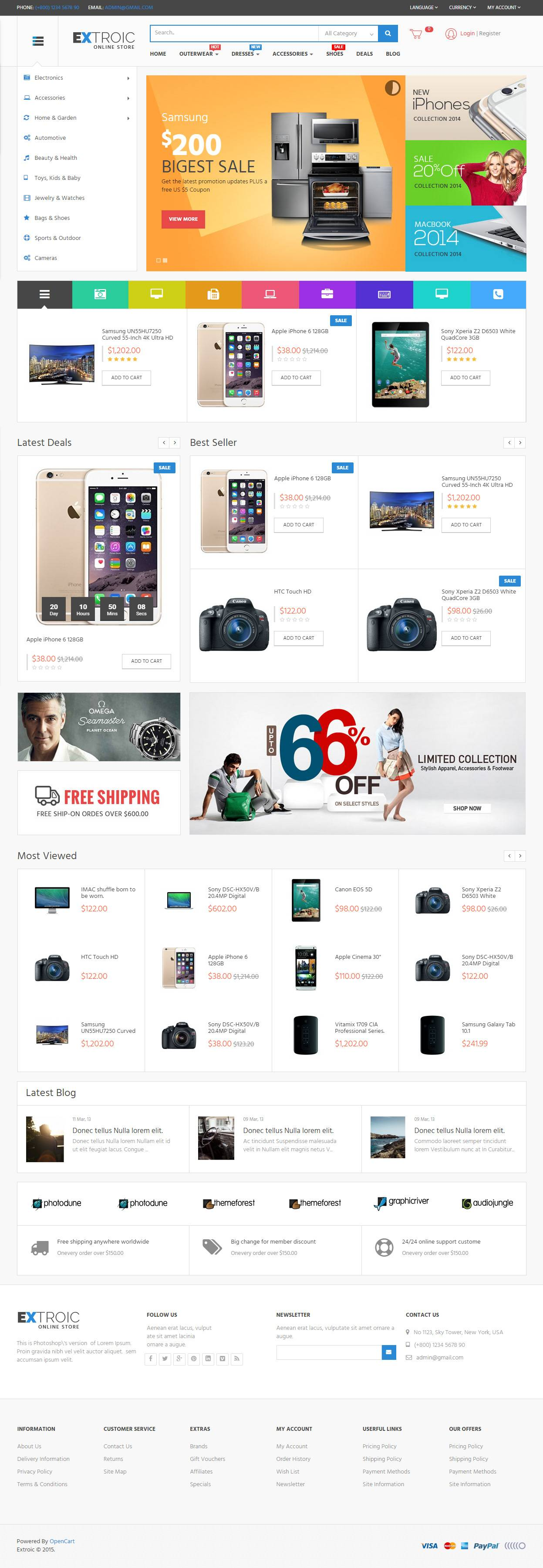 Opencart Ecommerce Templates Free