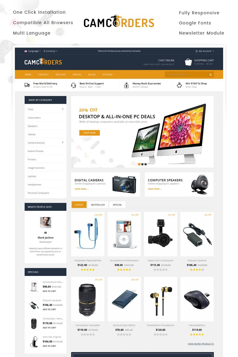 Opencart Website Templates
