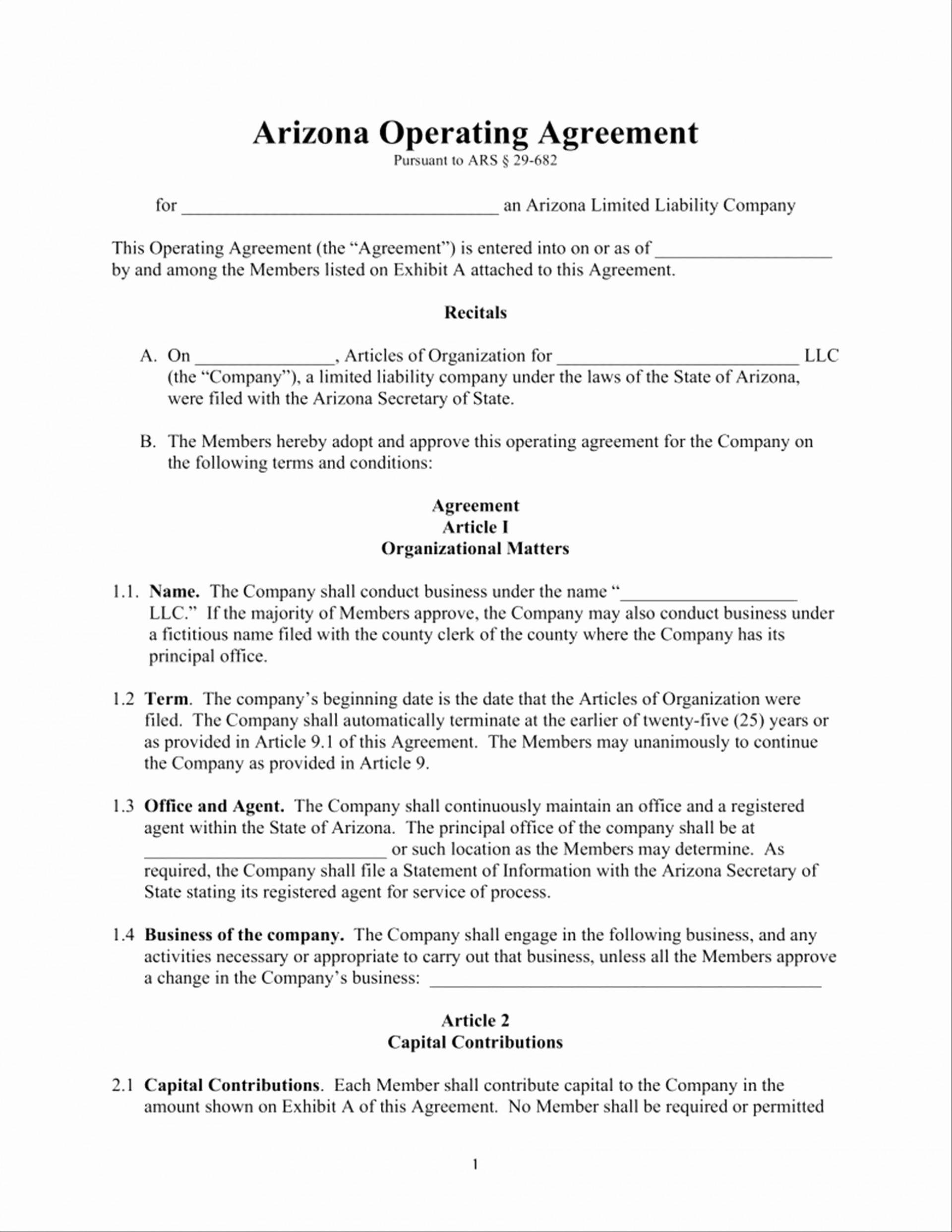 Operating Agreement Llc Nj Template
