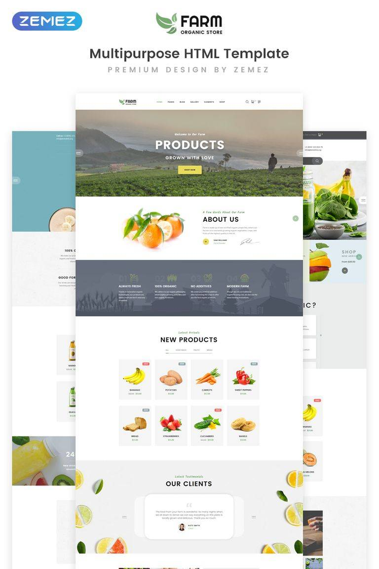 Organic Multipurpose Restaurant Html5 Template