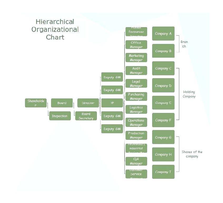 Organization Chart Template Word 2007