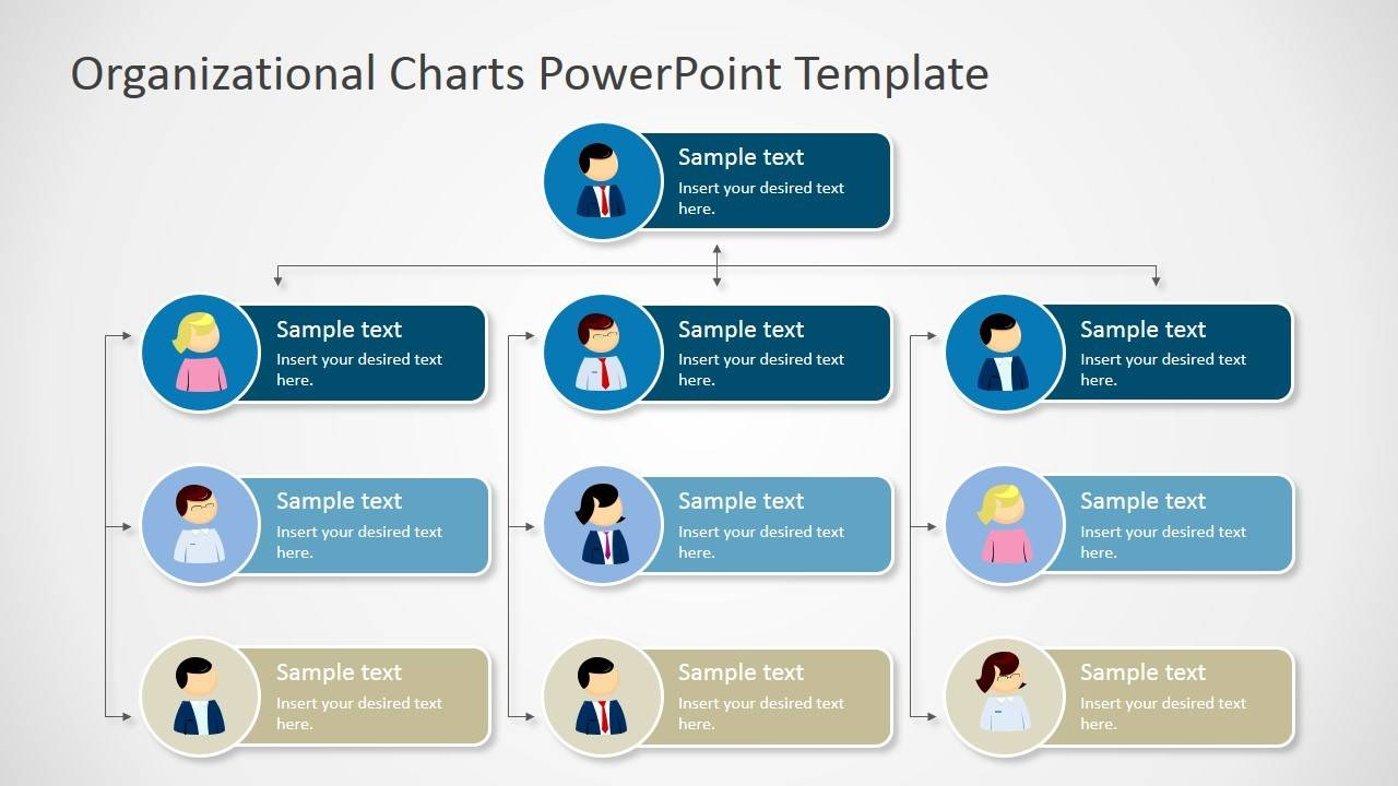 Organizational Chart Template For Ppt