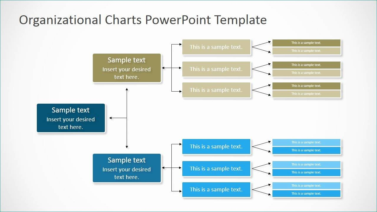 Organizational Structure Chart Powerpoint Template