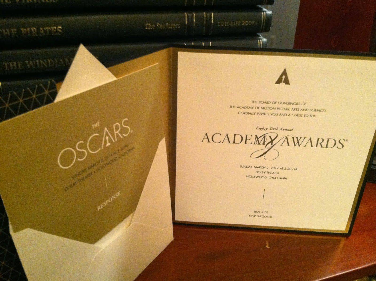 Oscar Invitation Template Free