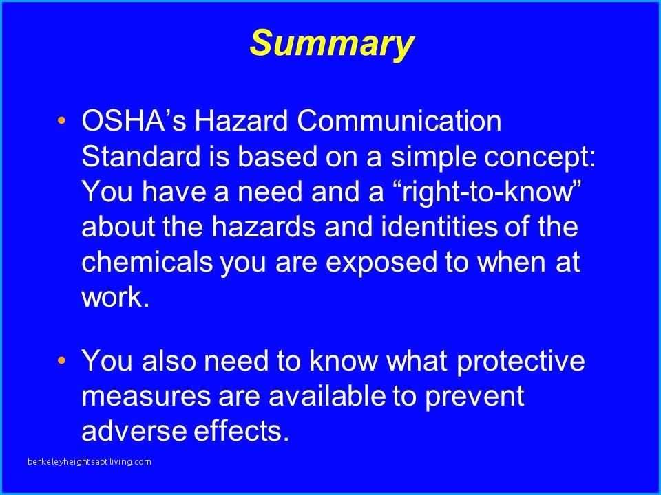 Osha Hazard Communication Program Template