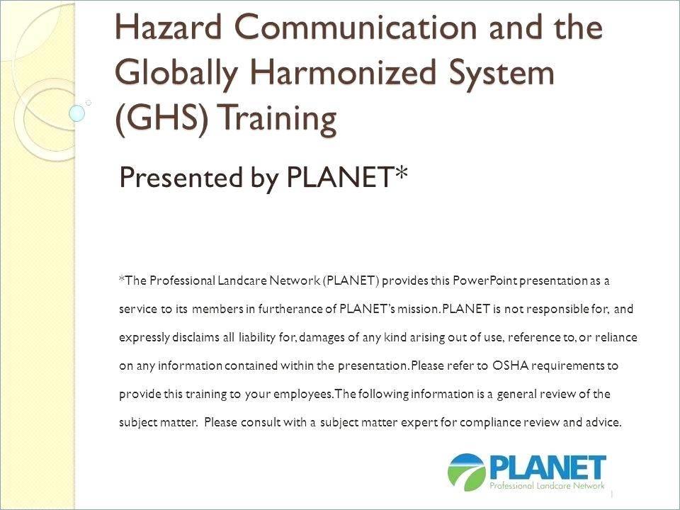 Osha Hazard Communication Standard Template