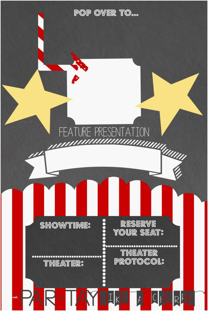 Outdoor Movie Invitation Template Free