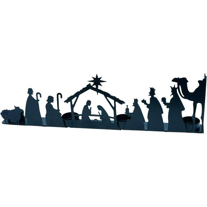 Outdoor Nativity Silhouette Template