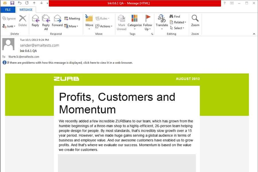 Outlook Html Email Template Download