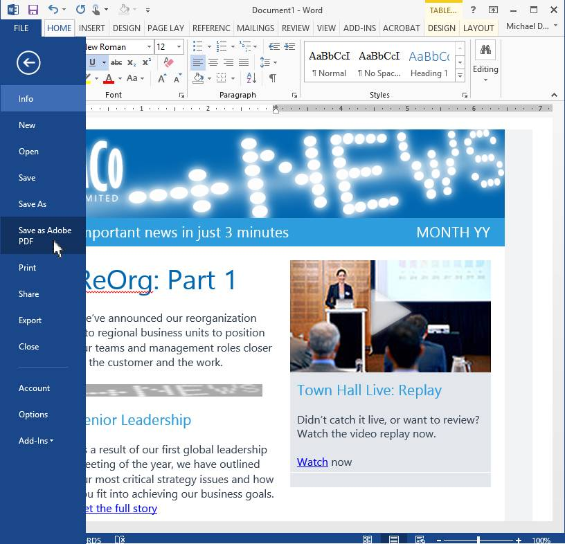 Outlook Newsletter Template Download