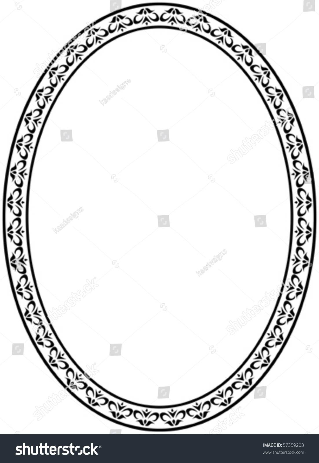 Oval Picture Frame Template Vector
