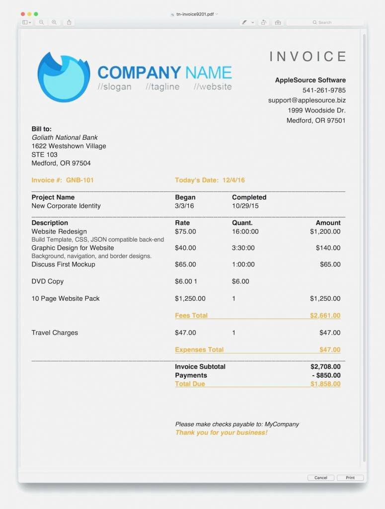 Overdue Invoice Statement Template