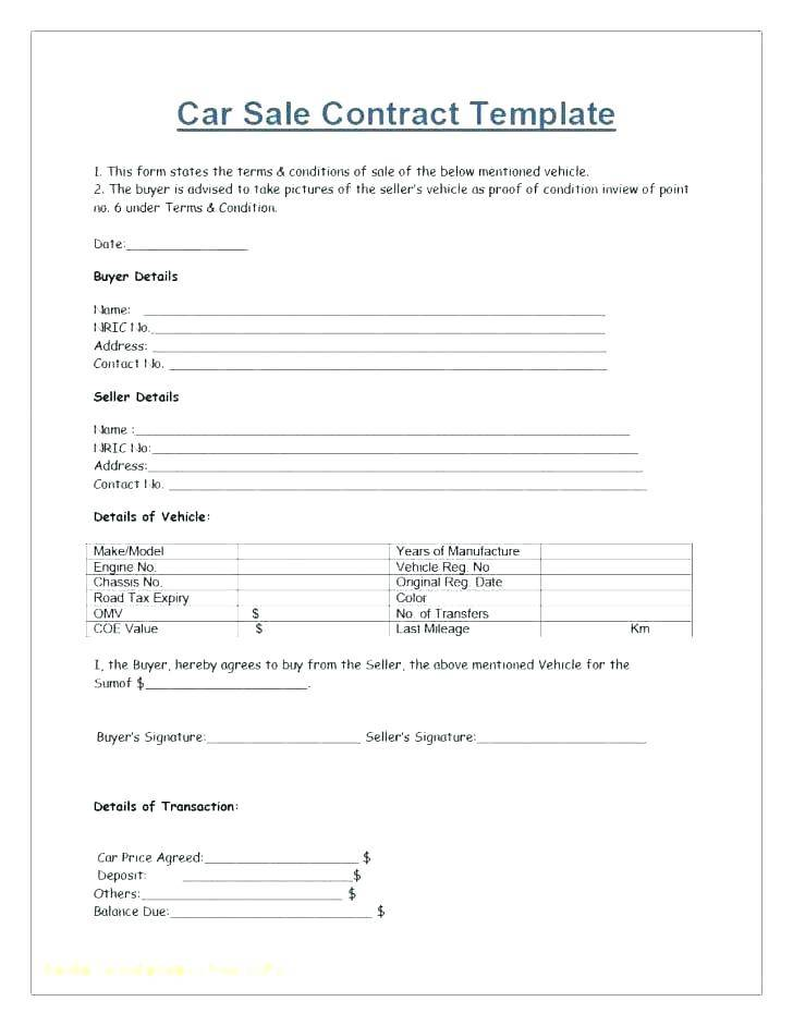 Owner Finance Contract Form