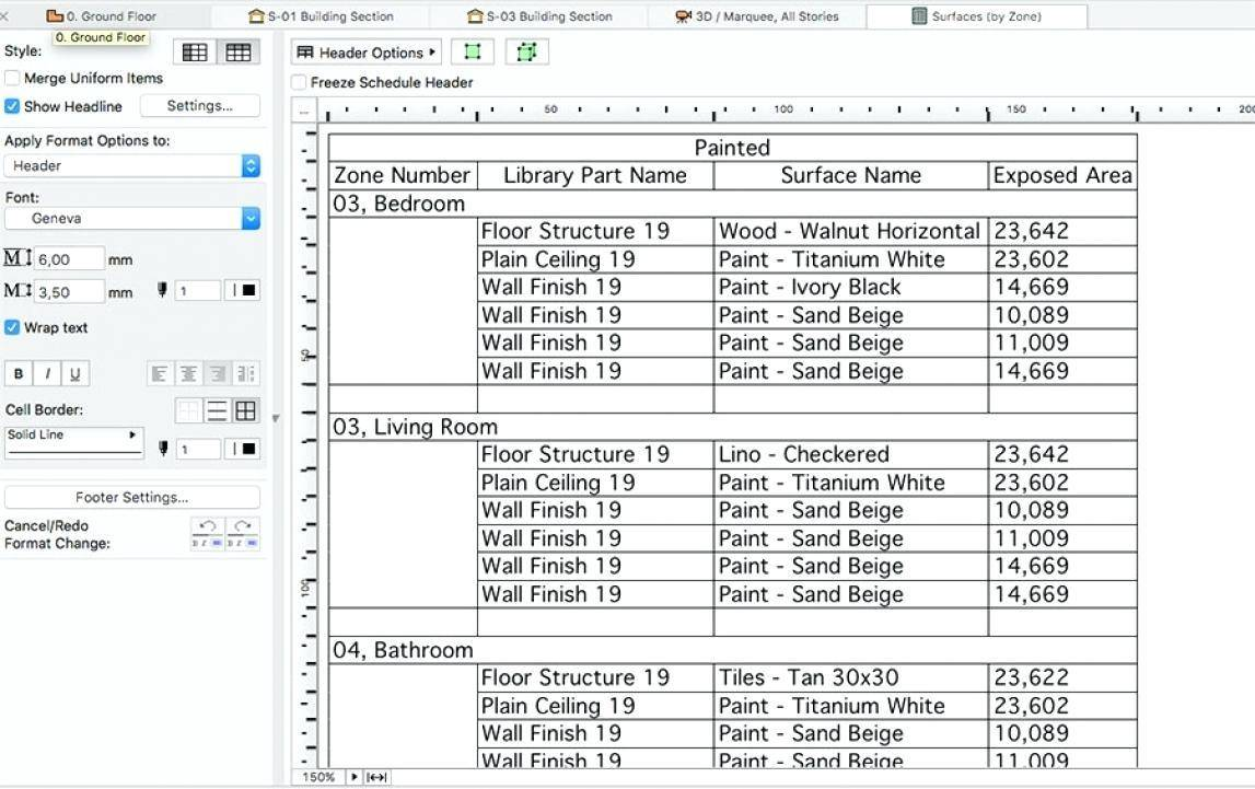 Paint Schedule Template
