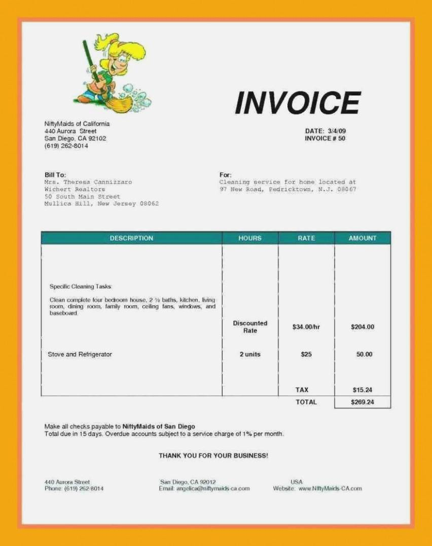 Painter And Decorator Invoice Template