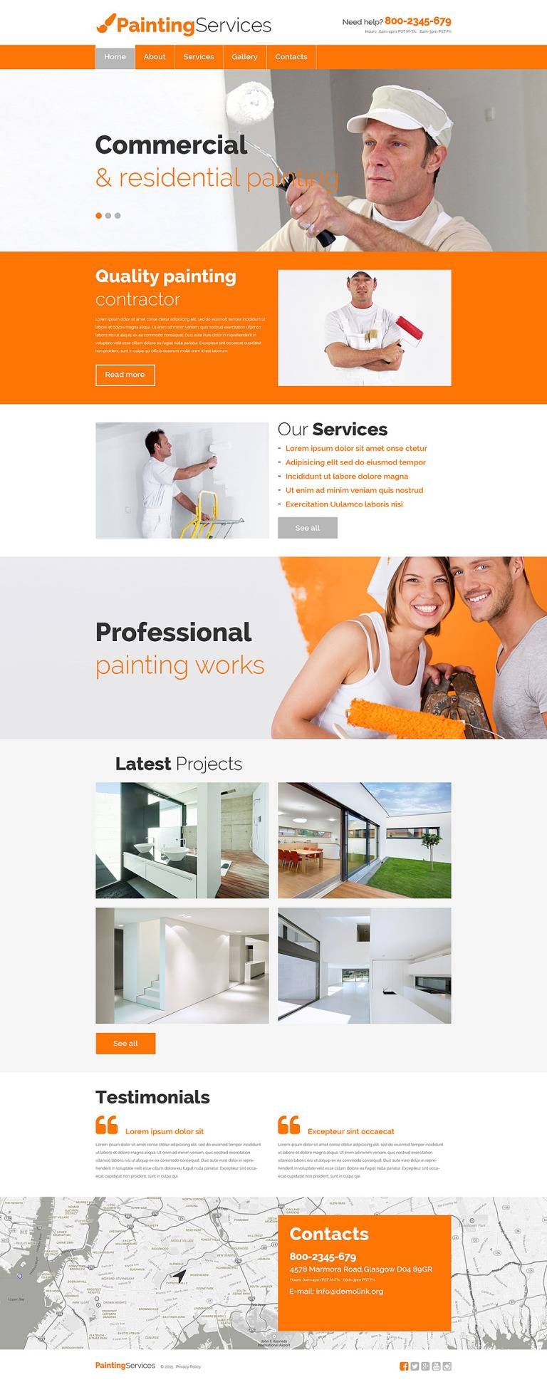 Painting Company Responsive Website Template