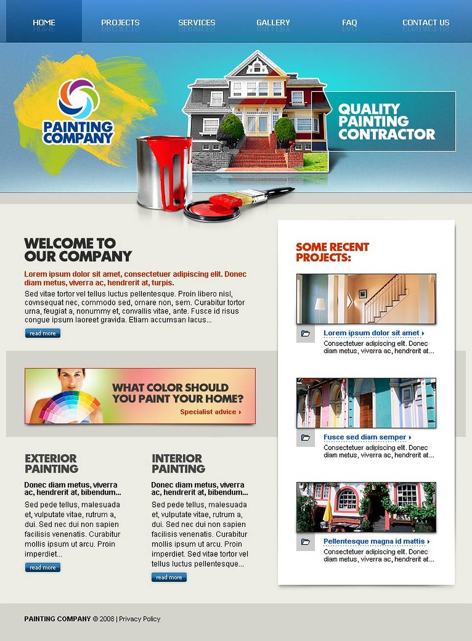 Painting Company Website Template