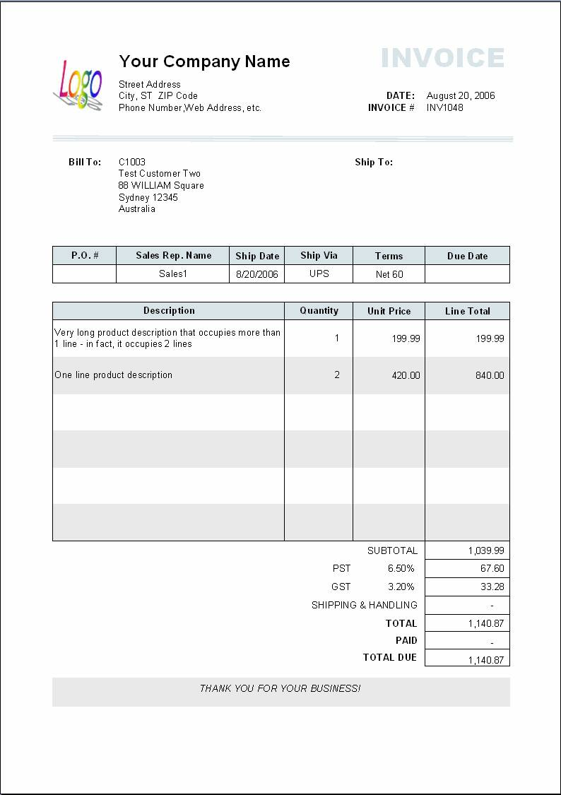 Painting Contractor Invoice Templates