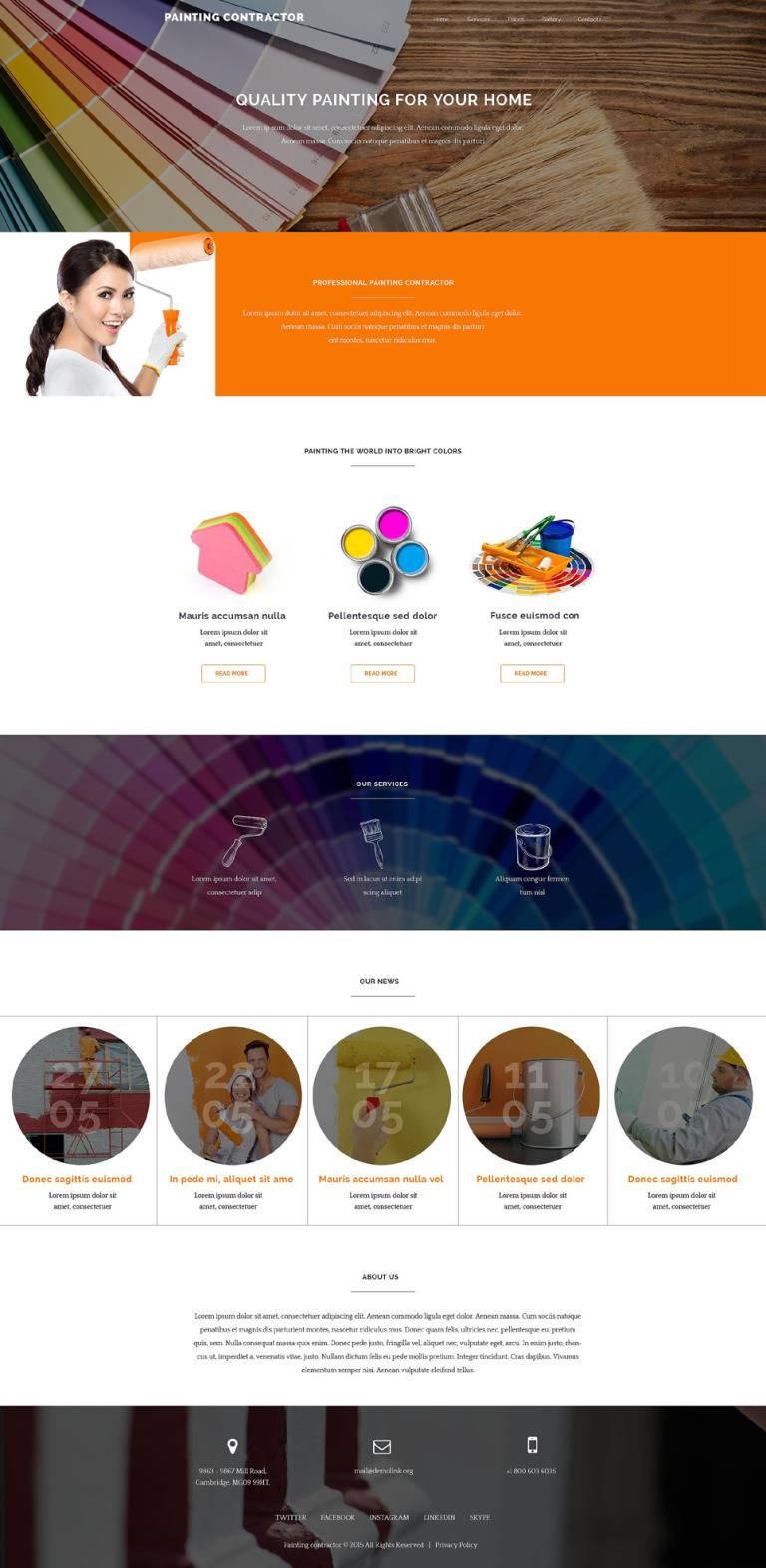 Painting Contractors Websites Templates