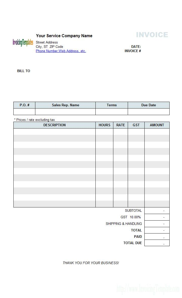 Painting Tax Invoice Template