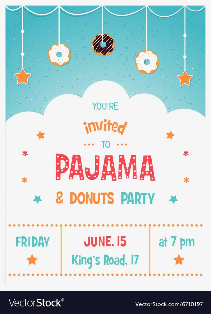 Pajama Party Invitation Template