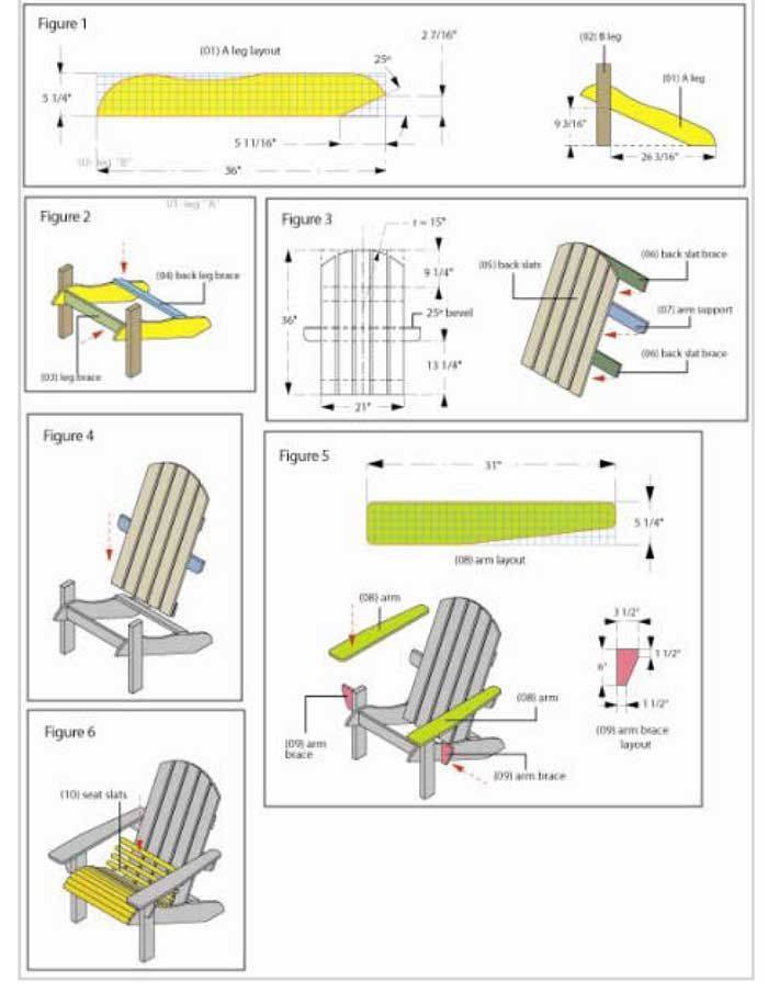 Pallet Adirondack Chair Template