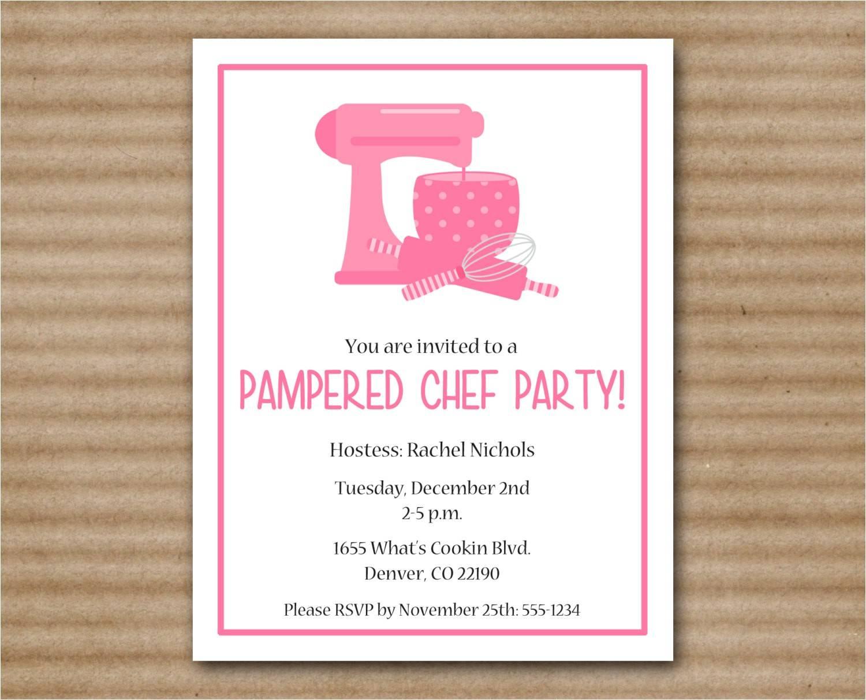 Pampered Chef Shower Invitation Wording