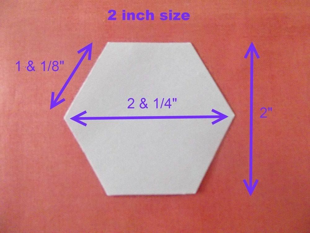 Paper Hexagon Templates For Quilting