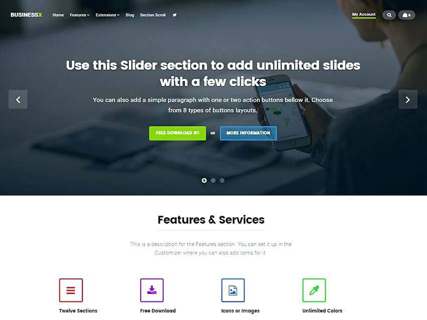 Parallax Scrolling Website Themes