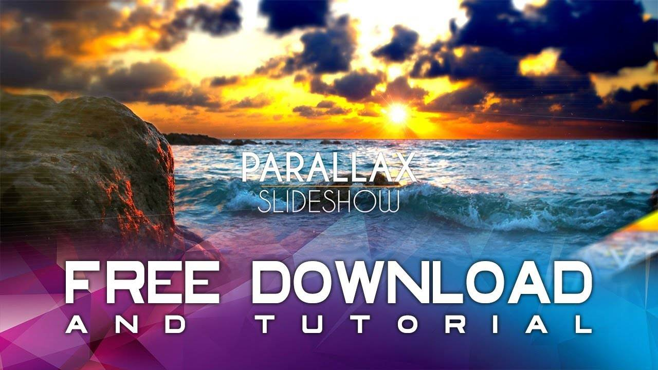 Parallax Slideshow After Effects Template Free