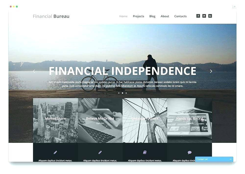 Parallax Web Design Template Free Download