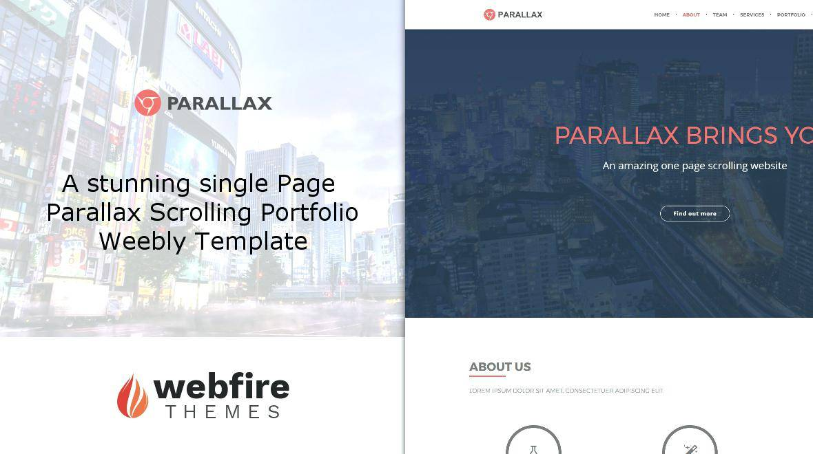 Parallax Website Template Squarespace