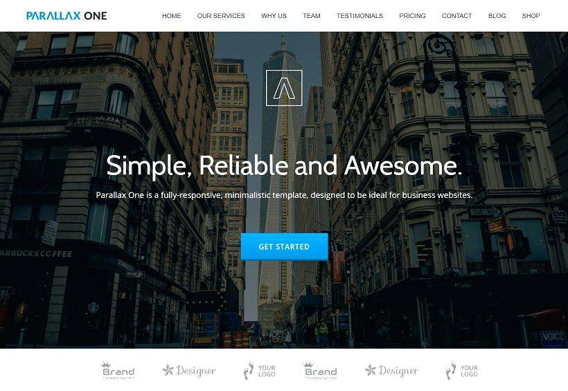 Parallax WordPress Template Free