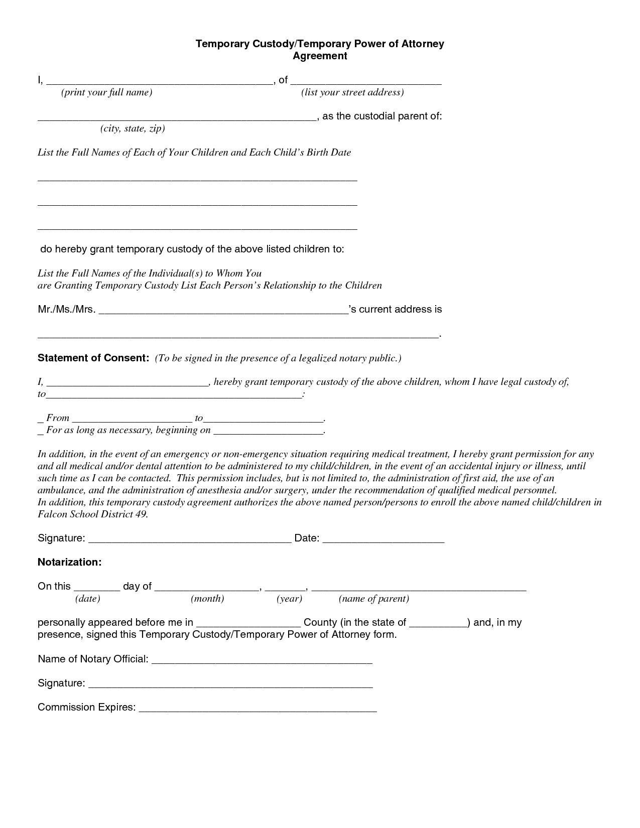 Parental Plan Agreement Template
