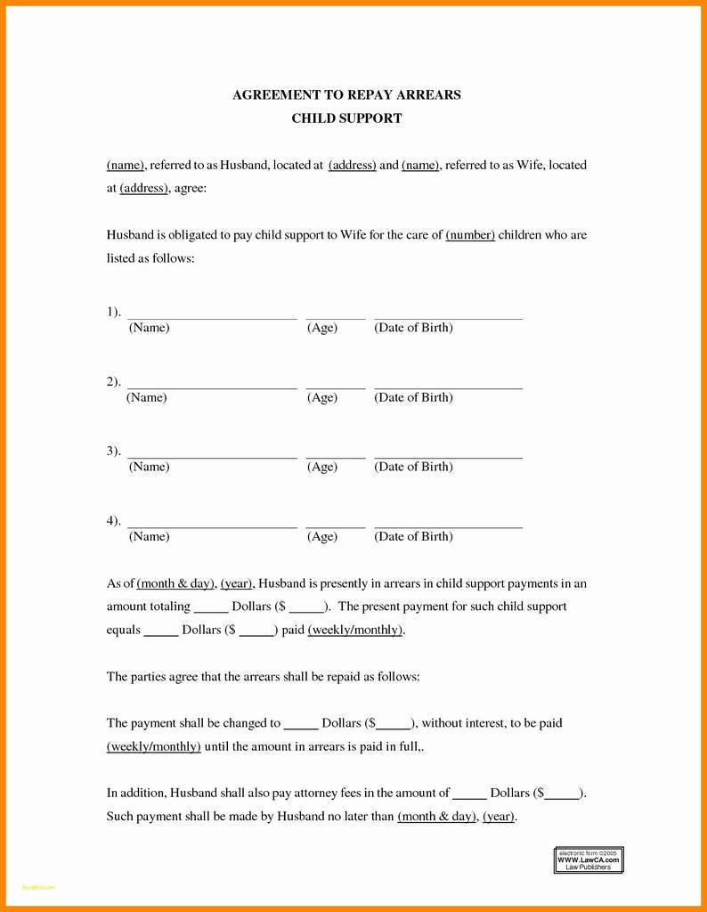 Parental Responsibility Agreement Template