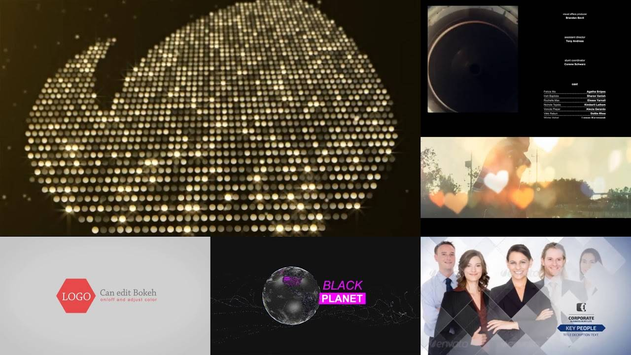Particles Gold Logo After Effects Template