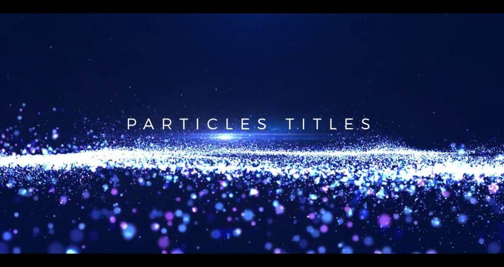 Particles Titles After Effects Template