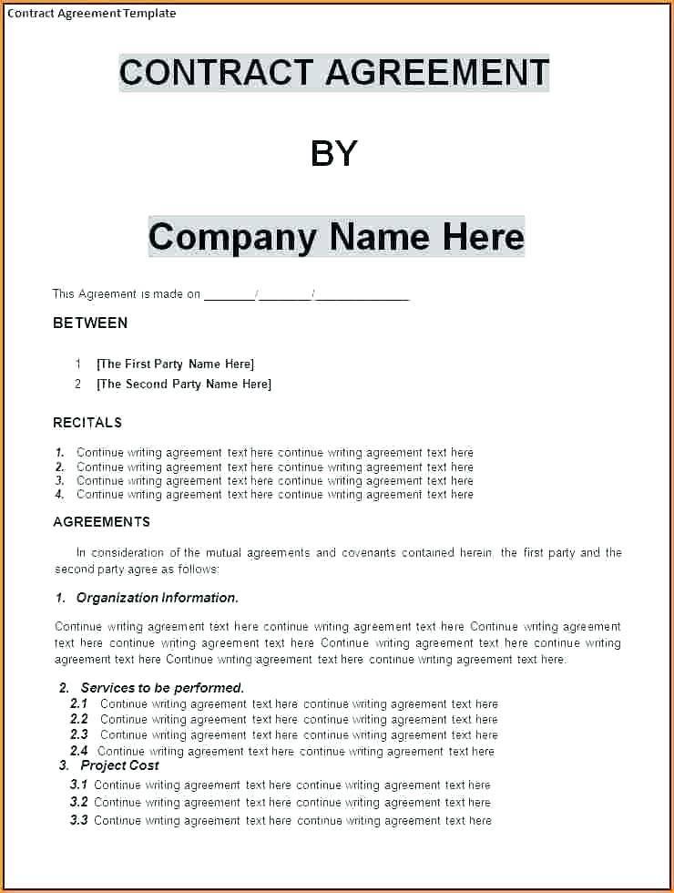 Partnership Contract Template Nz