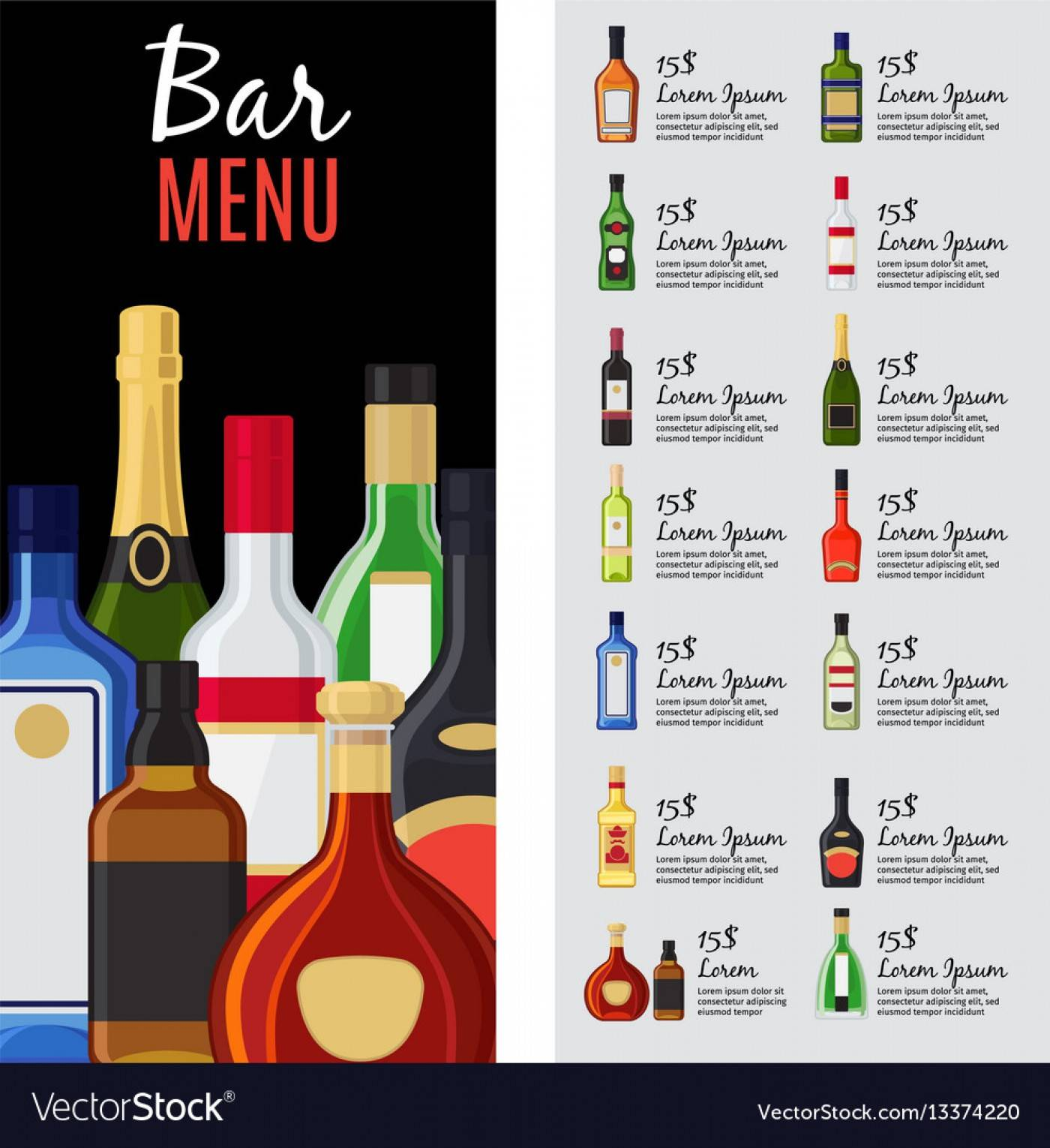 Party Drink Menu Template