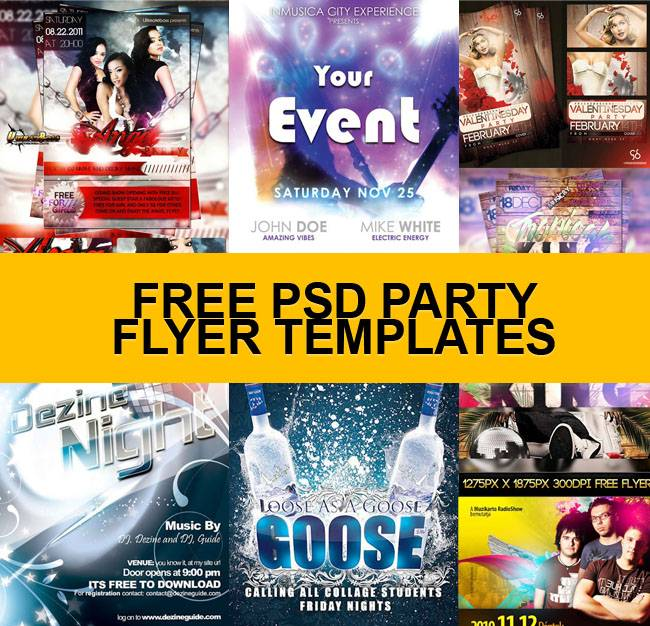 Party Flyer Background Templates Free Download