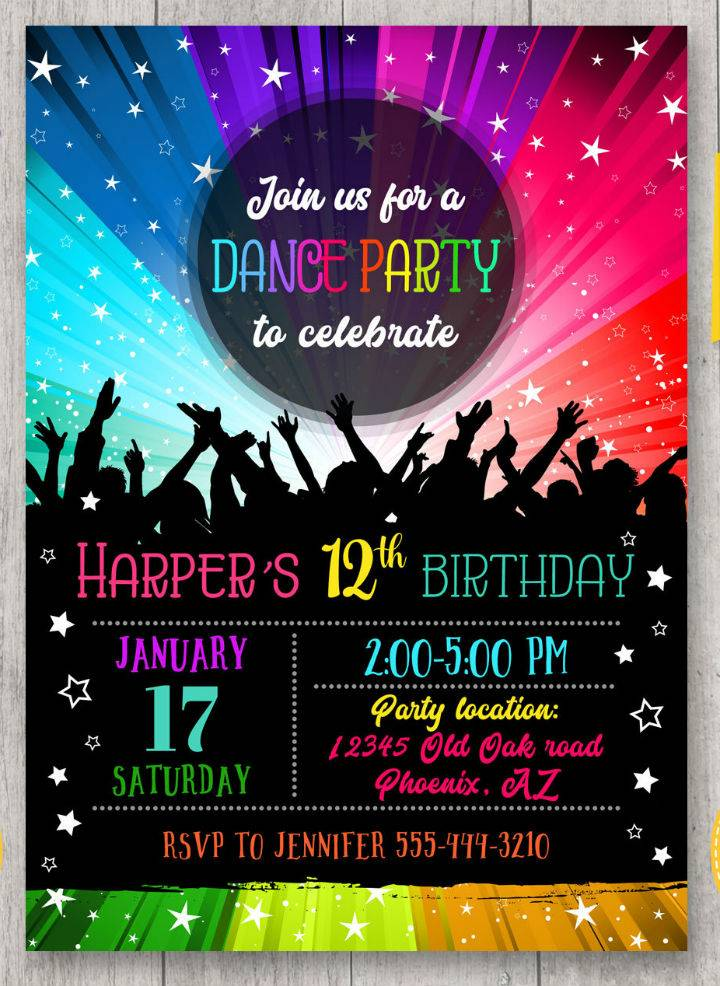 Party Invitation Template Psd