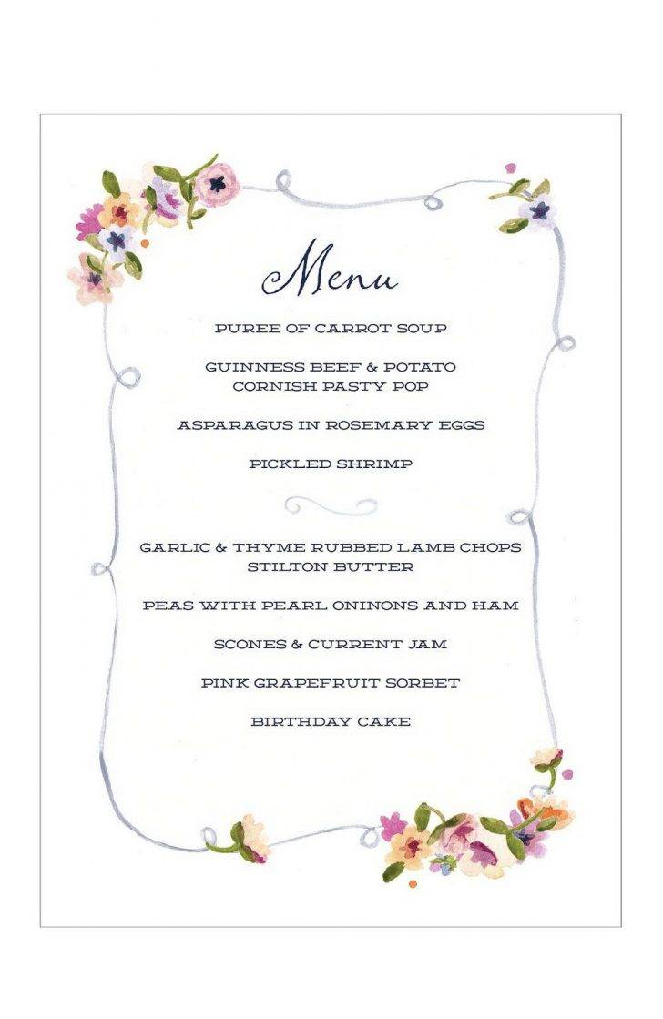 Party Menu Template Free Download