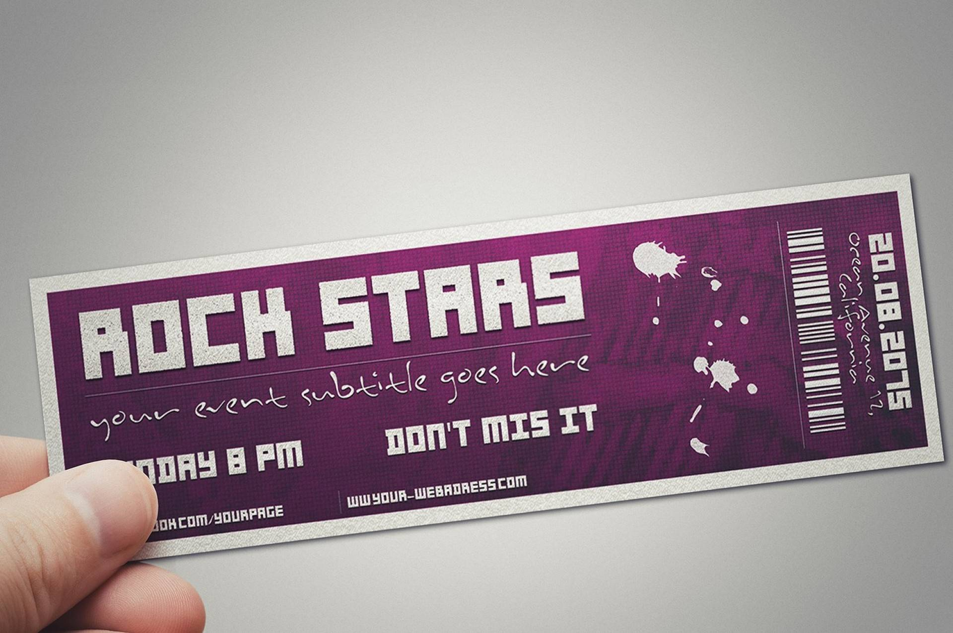 Party Ticket Template Psd
