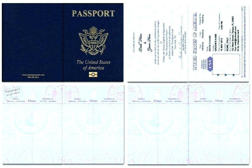 Passport Invitation Template Download