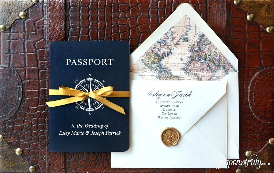 Passport Invitations Template Free